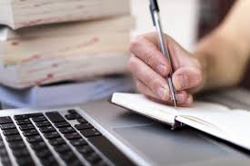 writing at computer